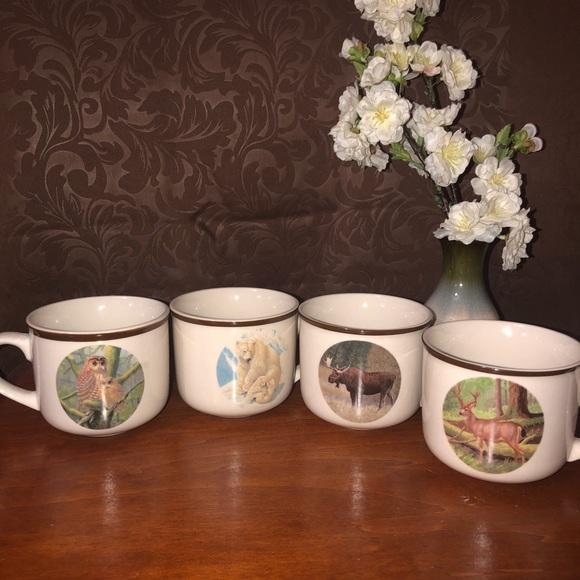 Wildlife Federation Dining Wildlife Federation Coffee Mug Cup Set Of 4 Poshmark